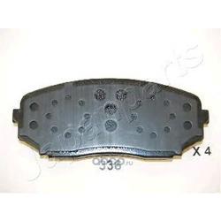 Комплект тормозных колодок, дисковый тормоз (Japanparts) PA336AF
