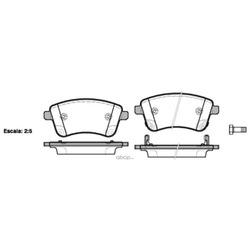 Комплект тормозных колодок, дисковый тормоз (Remsa) 143502