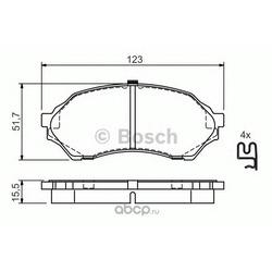 Комплект тормозных колодок, дисковый тормоз (Bosch) 0986424610