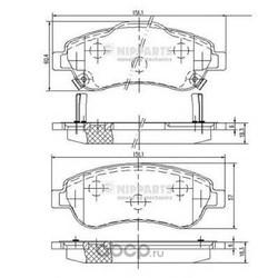 Комплект тормозных колодок, дисковый тормоз (Nipparts) N3604066