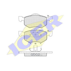Комплект тормозных колодок, дисковый тормоз (Icer) 181532