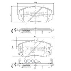 Комплект тормозных колодок, дисковый тормоз (Nipparts) N3600330