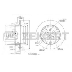 Диск.торм.зад Toyota Avensis (T250) 03- (Zekkert) BS5473