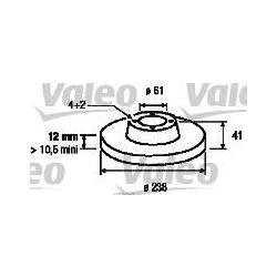 Тормозной диск (Valeo) 186803