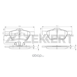 Колодки торм. диск. перед. Ford Maverick III 01- Mazda Tribute (EP) 00- (Zekkert) BS1003