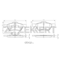 Колодки торм. диск. перед. Ford Maverick III 01- Mazda Tribute (EP) 00- (Zekkert) BS1003