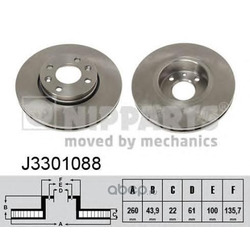 Тормозной диск (Nipparts) J3301088
