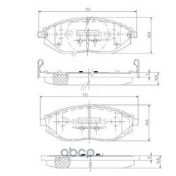 Комплект тормозных колодок, дисковый тормоз (Nipparts) N3600916