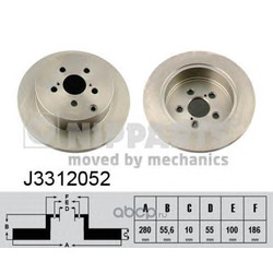 Тормозной диск (Nipparts) J3312052