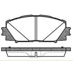 Комплект тормозных колодок, дисковый тормоз (Remsa) 122410
