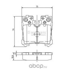 Комплект тормозных колодок, дисковый тормоз (Nipparts) N3612037