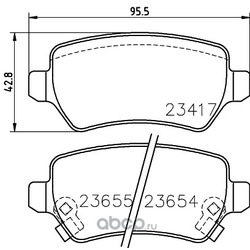 Комплект тормозных колодок, дисковый тормоз (Hella) 8DB355018781