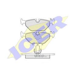Комплект тормозных колодок, дисковый тормоз (Icer) 181141