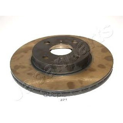Диск тормозной передний вентилируемый (Japanparts) DI221