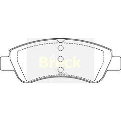 Комплект тормозных колодок, дисковый тормоз (BRECK) 235990070100