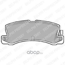 Комплект тормозных колодок, дисковый тормоз (Delphi) LP611