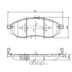Комплект тормозных колодок, дисковый тормоз (Nipparts) J3601094