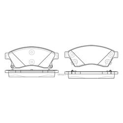 Колодки тормозные дисковые (FIT) FP1467
