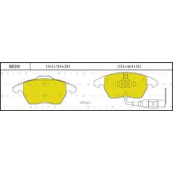 Колодки тормозные дисковые (Blitz) BB0300
