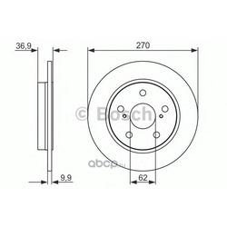 Диск тормозной (Bosch) 0986479519