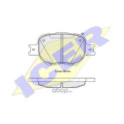 Комплект тормозных колодок, дисковый тормоз (Icer) 181704