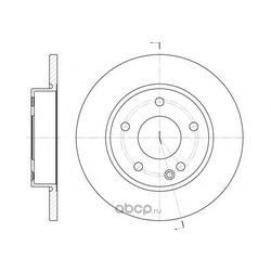 Тормозной диск (Remsa) 652600