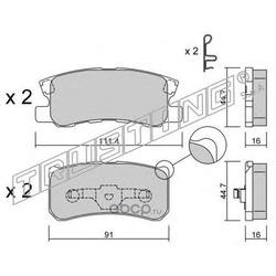 Комплект тормозных колодок, дисковый тормоз (Trusting) 4151