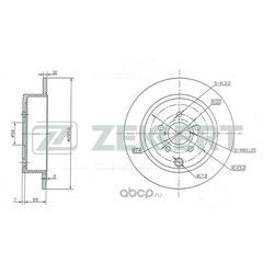 Тормозной диск (Zekkert) BS5439