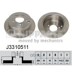 Тормозной диск (Nipparts) J3310511