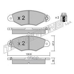 Комплект тормозных колодок, дисковый тормоз (Trusting) 2620