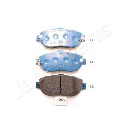 Комплект тормозных колодок, дисковый тормоз (Japanparts) PA207AF