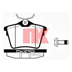 Комплект тормозных колодок, дисковый тормоз (Nk) 223745
