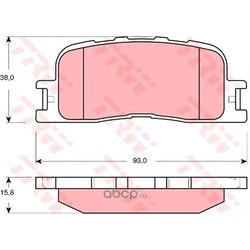 Колодки тормозные задние (TRW/Lucas) GDB3374