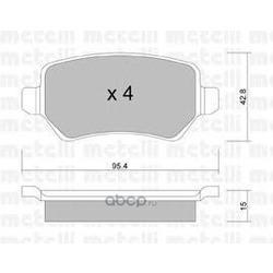 Колодки тормозные дисковые, комплект (Metelli) 2205421