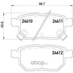 Колодки тормозные дисковые TEXTAR (Textar) 2461001