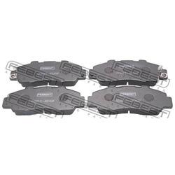 Колодки тормозные комплект 0301-RD9F (Febest) 0301RD9F