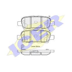 Колодки тормозные дисковые, комплект (Icer) 181838
