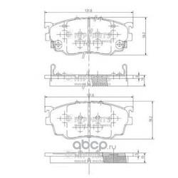 Комплект тормозных колодок, дисковый тормоз (Nipparts) J3603051