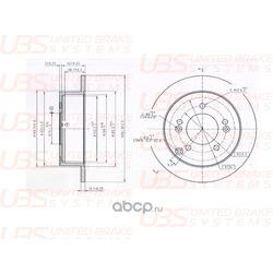 ТОРМОЗНОЙ ДИСК (UBS) B2203023