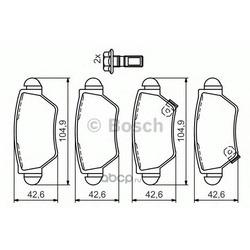 Комплект тормозных колодок, дисковый тормоз (Bosch) 0986494014