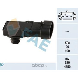 Датчик, давление во впускном газопроводе (FAE) 15016