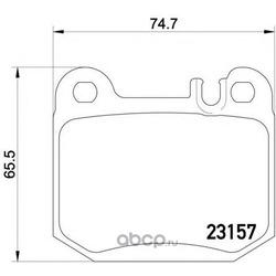 Колодки тормозные дисковые, комплект (Mintex) MDB2112