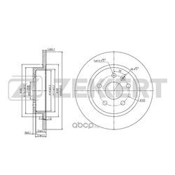 диск тормозной зад (Zekkert) BS5052