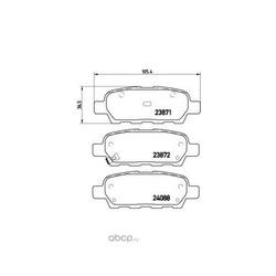 Комплект тормозных колодок, дисковый тормоз (Brembo) P56046