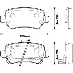 Комплект тормозных колодок, дисковый тормоз (Jurid) 573122J