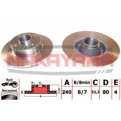 Комплект подшипника ступицы колеса (NAKAYAMA) Q4702