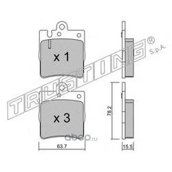 Комплект тормозных колодок, дисковый тормоз (Trusting) 3530