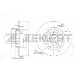 Диск.торм.зад Citroen C5 II 08- Peugeot 407 04- 508 10- (Zekkert) BS5039