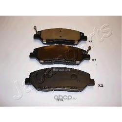 Комплект тормозных колодок, дисковый тормоз (Japanparts) PAH14AF