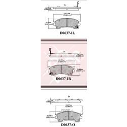 Дисковые тормозные колодки (Friction Master) MX637